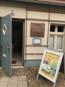 Eingang der Ausstellung
